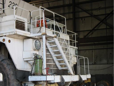 Deck and Ladder assembly on water truck