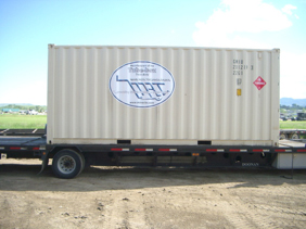 C-can storage containers, outfitted with all necessary equipment can be sent for overseas projects
