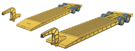 Varying designs for equipment trailers