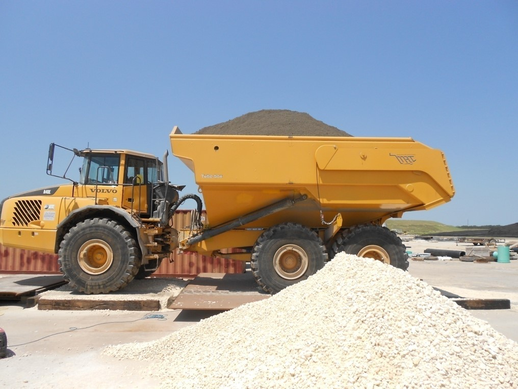 Volvo ADT Gated Fly-Ash Body – built new gated Volvo ADT body for a fly-ash application